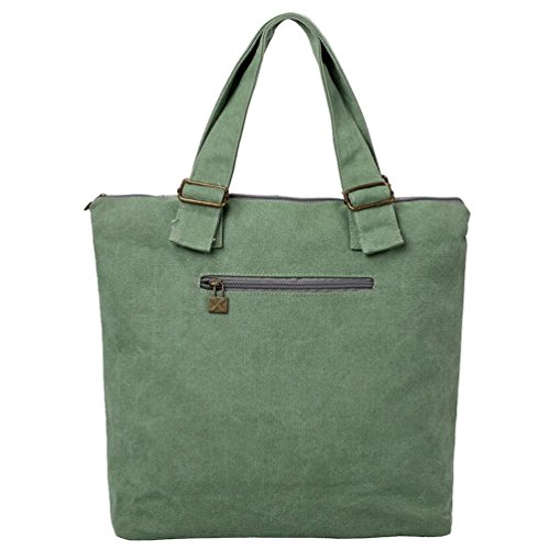 Chang Spent nuova spalla borsa di tela dello shopping femminile portatile Re , green Green