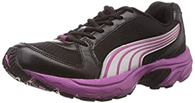 Puma Women's Brent Wn s DP Black, Aged Silver and Vivid Viola Running Shoes - 4 UK/India (37 EU)