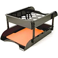 Unbreakable High Capacity Tray Set, Letter/Legal, Black, 2/PK, Sold as 1 Package
