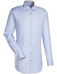 JACQUES BRITT Business Hemd Custom Fit Extra langer Arm Bügelleicht Uni / Uniähnlich Businesshemd Manschette weitenverstellbar