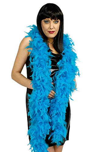 narrenkiste K50776010-A türkis Damen Boa - Kabarett Kostüm Bilder