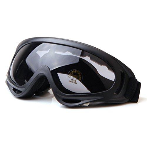 HugeStore Unisex Snowmobile Skibrille Gletscherbrille Schutzbrille Motorradbrillen Fliegerbrille Schneebrille Radsportbrille Schwarz