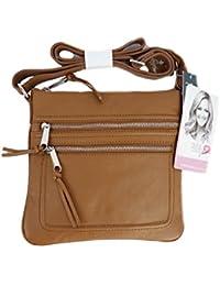 d9370242f7b8d TCM Tchibo Leder Tasche Handtasche Schultertasche Umhängetasche braun