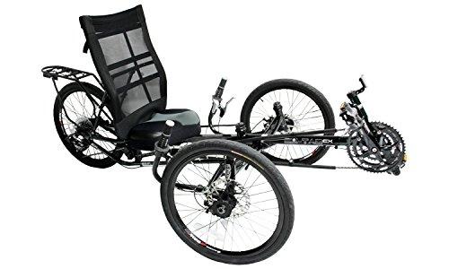 Liegerad EZ-Tad CX für Erwachsene, mit Komfort-Sitz, 130 kg Tragfähigkeit, 27-Gang Schaltung, 20 Zoll...