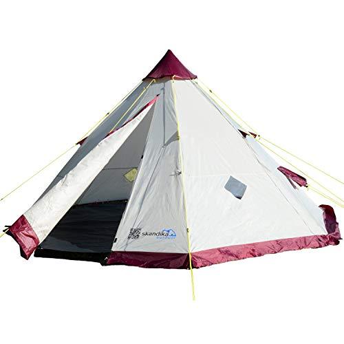 skandika Tipi 200 6-Personen Familienzelt Tipii/Teepee Pyramiden/Indianerzelt, 200 cm Stehhöhe, 3000 mm Wassersäule
