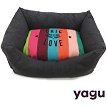 Yagu Cuna para Perros y Gatos Chic&Love Arcoiris (T-4 74 x 61 x