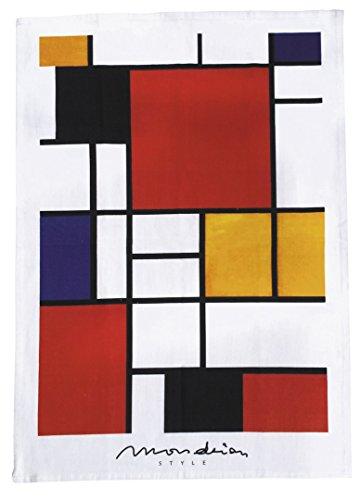 Bauhaus Geschirrtuch *Mondrian Style* ca. 44x64 cm 100% Baumwolle