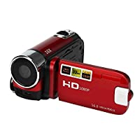 Zantec Camera Camcorders 16MP High Definition Digital Video Camcorder 1080P 2.7 Inches TFT LCD Screen 18X Zoom Camera Recorder Red