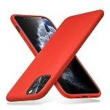 """ESR Funda Serie Yippee Color Soft para iPhone 11 Pro MAX, Funda Suave de Silicona Líquida, Cómodo Agarre, Protección para Pantalla y Cámara, Absorción de Golpes. para iPhone 11 Pro MAX 6,5"""".Rojo."""