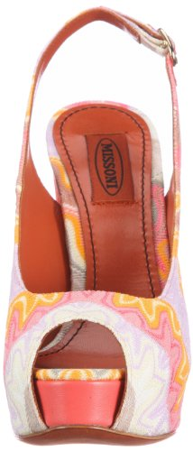 Missoni SANDALO PLAT.INTERNO T.130 DRITTO TM06 G, Sandali donna Arancione (Orange (ARANCIO))