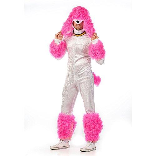 Límite caniche traje (Medio, blanco/rosa)