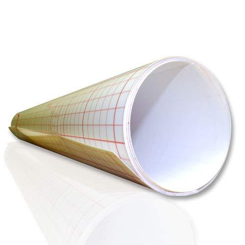 ASLAN Lampenschirmfolie, Weiss, opak, selbstklebend, 0,30 mm stark (120 cm x 1 Meter) -