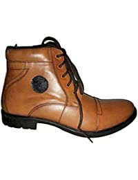 Goose Bird Men's Brown PU Casual Shoes Size-10