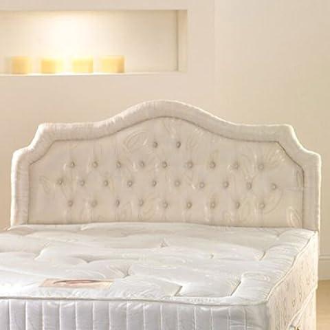 Deluxe Beds Ltd 3Ft 6 Large Single Chardonnay Upholstered Headboard