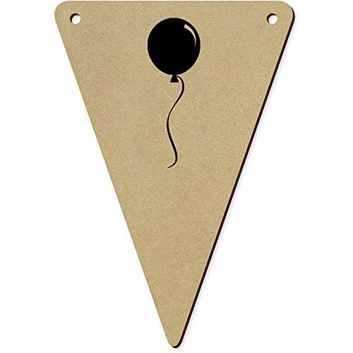 Azeeda 5 x 140mm 'Ballon Rond' Fanions Triangles en Bois (BN00018983)