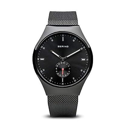 Bering Tiempo 70142–222Hombres Smart Viajero colección Reloj con Correa de Acero Inoxidable y Scratch Resistent Cristal de Zafiro. Diseñado en Dinamarca