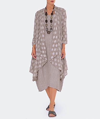 Grizas Femmes Robe en soie gaufre Beige Beige