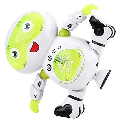 Dilwe Elektrische Roboter Spielzeug, Multicolor Shine Cool blinkende Lichter Musik Tanzen Walking Elektro Roboter Spielzeug Festival Geschenk für Kinder ( Grünes #B) - Walking-spielzeug-roboter