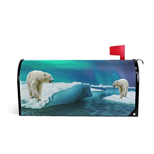 (HEOEH Briefkasten-Abdeckung, Motiv: Nordpol Bär, magnetisch, 63,5 x 50,8 cm 52.6x45.8cm Mehrfarbig)