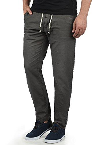 Blend Lian Herren Leinenhose Sommerhose Lange Stoffhose in Leinen-Optik aus Loose Fit, Größe:L, Farbe:Phantom Grey (70010)