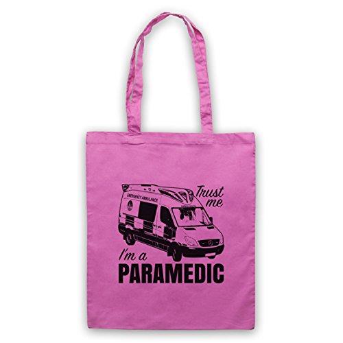 Fidati Di Me In Un Paramedico Slogan Di Lavoro Divertente Umhangetaschen Rosa