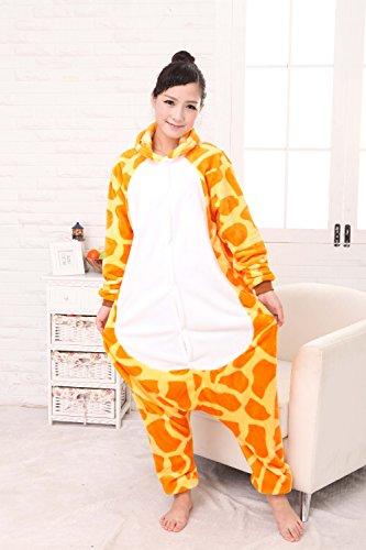 Misslight Unicorn Pyjamas dames Combinaisons Costumes animaux tenue d'animaux pyjama grenouillère animaux avec le festival de costumes licorne adultes ajustement Giraffe
