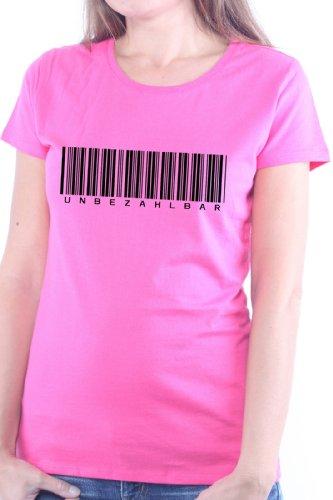 Mister Merchandise Cooles Damen T-Shirt Unbezahlbar , Größe: XL, Farbe: Pink (Mädchen Unbezahlbar T-shirt)