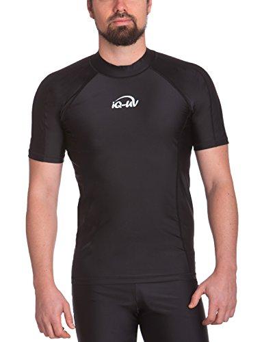 iQ-Company Herren UV 300 Shirt Slim Fit Watersport, Schwarz, L, 645122-2800