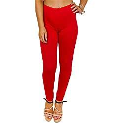 Love My Fashions - Leggings - Animal Print - para Mujer Rojo Rosso Small/Medium