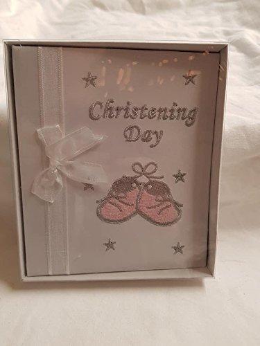 Baby Mädchen Taufe Tag Foto Album, kommt in Box, ca. 14x 17Cms