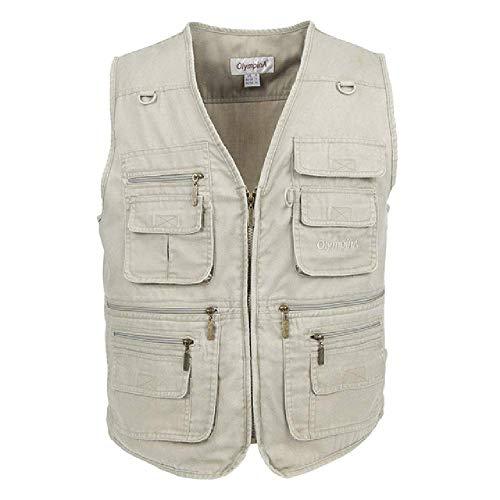 GERPY 2019 Angeln Weste Sommer Casual mesh männer im freien Weste mit Taschen regelmäßige Zwei Farben Plus größe 3XL Baumwolle Weste