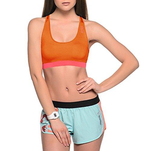 Reebok PlayDry - Sujetador deportivo Mujer - Running Gimnasio Fitness Sin mangas - Naranja - M