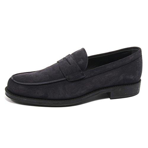 B2020 mocassino uomo TOD'S scarpe blu scuro shoes loafer men [7.5]