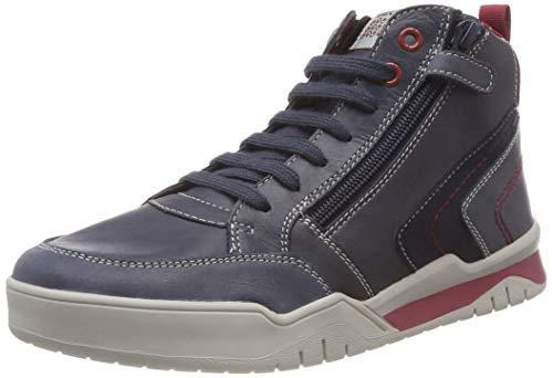 Geox Jungen J Perth Boy B Hohe Sneaker, Blau (Navy/Dk Red C4244), 36 EU
