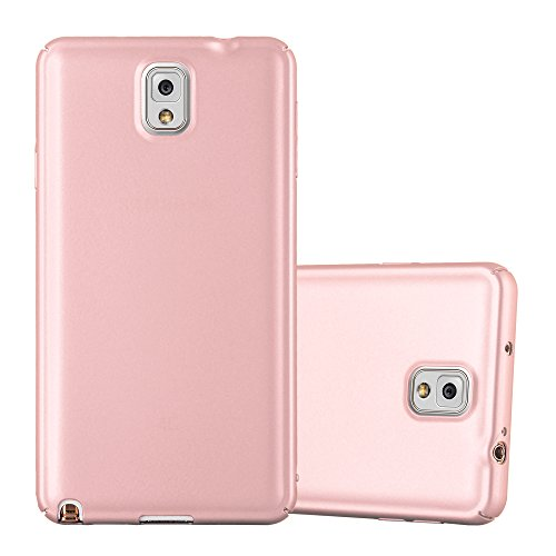 Cadorabo Hülle für Samsung Galaxy Note 3 - Hülle in Metall Rose Gold – Hardcase Handyhülle im Matt Metal Design - Schutzhülle Bumper Back Case Cover
