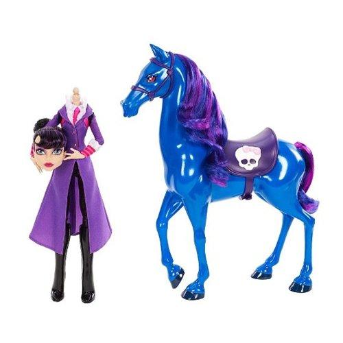 Monster High Headmistress Bloodgood mit Pferd Nightmare