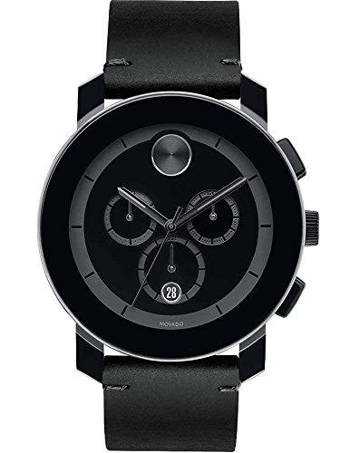 Movado Reloj de hombre cuarzo suizo 43mm correa de piel de ternero 3600337