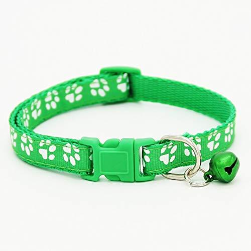 Keptei Haustier Halsband Katzenhalsband mit Glöckchen sicherheitsverschluss Nylon, Schnalle, Verstellbar, Coole Halsbänder für Hauskatzen, Kleine Hunde