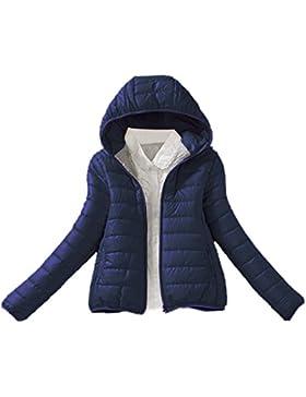 Meaneor Chaqueta de plumas ligera con capucha de invierno para mujer