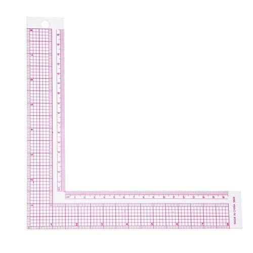 Ftvogue - righello in plastica a forma di l, per cucito, 90 gradi, professionale, per sartoria, 5808