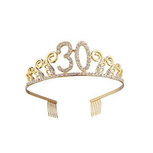 Frcolor Corona Cumpleaños 30 Años Diadema