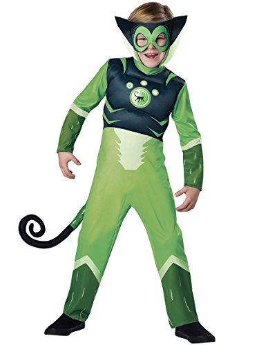 tts Green Spider Monkey Boys Muscle Chest Costume XS(4) (Wild Kratts Kostüme)