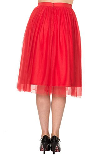 Dancing Days by Banned Tüll Rock FREEFALL SKIRT 2153 Red