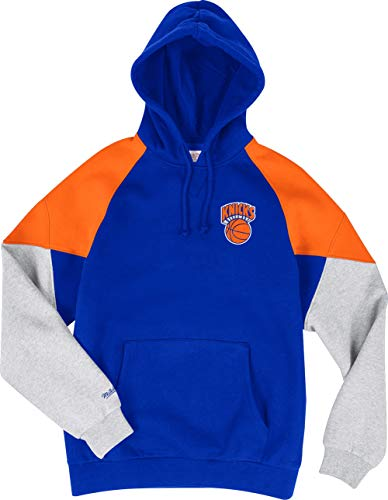Mitchell & Ness New York Knicks Royal Orange Trading Block Hoody Hoodie Sweater Herren Mens Block Hoody