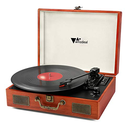 Tocadiscos, Amzdeal Tocadiscos 33/45/78 RPM, Maleta Portátil