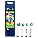 Oral-B CrossAction Opzetborstels, met Bacteriële Bescherming, 3 + 1 Stuks, Wit