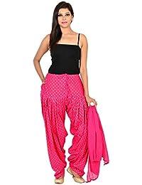 Home Shop Gift Pink Cotton Polka Dot Self Design Womens Full Patiyala Dupatta (Free Size)