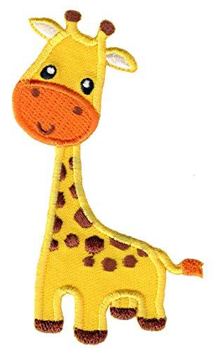 PatchMommy Patch Aufnaeher Aufbuegler Applikation zum Aufbuegeln, Giraffe - fuer Kinder Baby