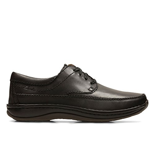 Clarks Men's Lace-Up Derby Shoes Stroll Path Black Leather