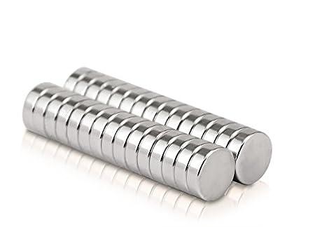 Naths Magnets® | 30 Piece premium aimants néodyme 10x3 mm | Aimant de tableau blanc aimant puissant mur à aimant permanent tableau magnétique disque